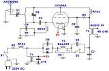 Transmitter FM 45W with valve circuit diagram