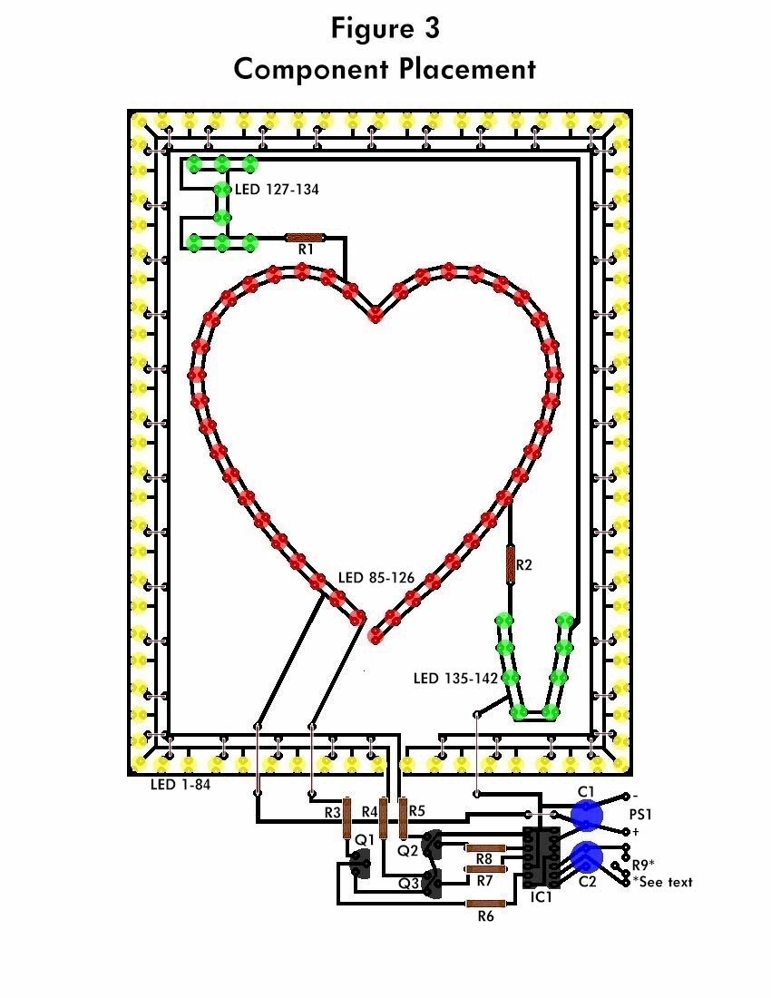How To Build The Flashing Heart Circuit Diagram Lamp