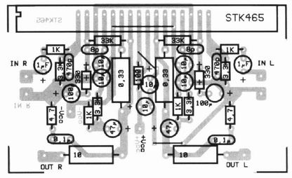 how to build amplifier 2x30w with stk465  circuit diagram